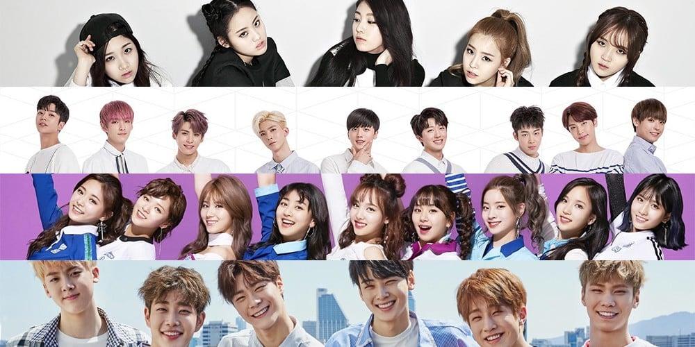 (Bangtan Boys) BTS, The Ark, CLC, TWICE, ASTRO, DIA, Cosmic Girls, SF9, VICTON, TheEastLight, JBJ, Kim Dong Han
