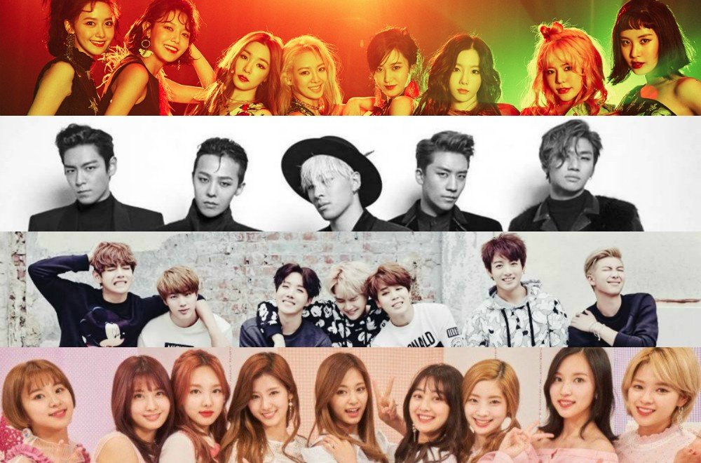 2PM,Big-Bang,EXO,KARA,SISTAR,Girls-Generation,Wonder-Girls,bts,twice,wanna-one