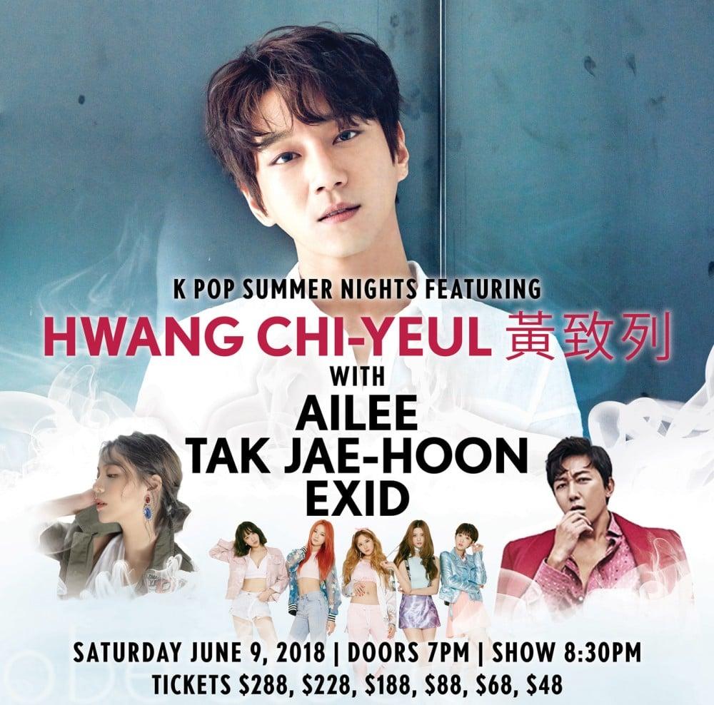 EXID, Ailee, Tak Jae Hoon, Hwang Chi Yeol