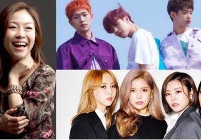Onew,Minho,park-jung-hyun-lena-park,mamamoo