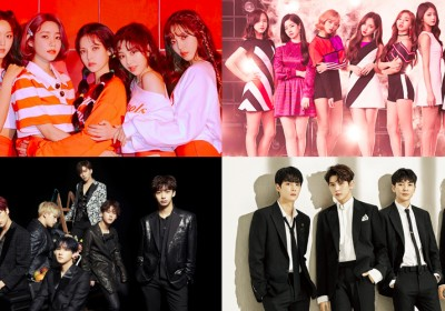 AOA,nuest-w,monsta-x,twice,bolbbalgan4,momoland,wanna-one