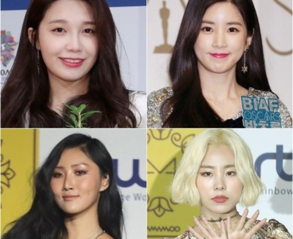 A-Pink,Chorong,Eunji,Eunji,mamamoo,whee-in,hwa-sa