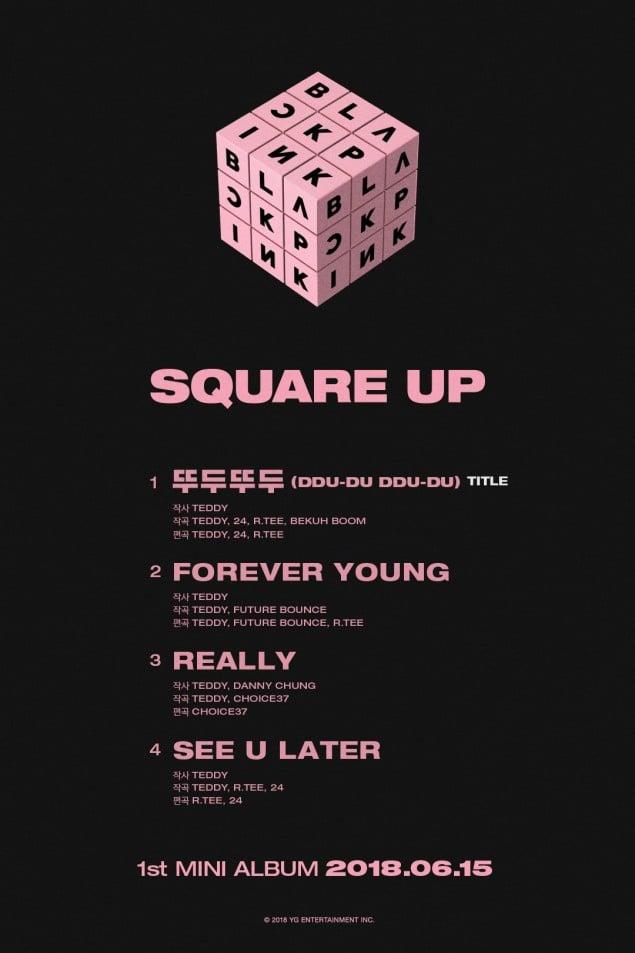 Black Pink Reveals Full 4 Song Tracklist To 1st Mini Album Allkpop
