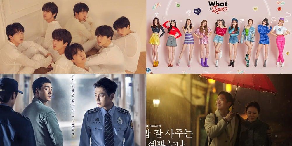 Son Ye Jin, (Bangtan Boys) BTS, MAMAMOO, Park Seo Joon, TWICE, Black Pink, Wanna One