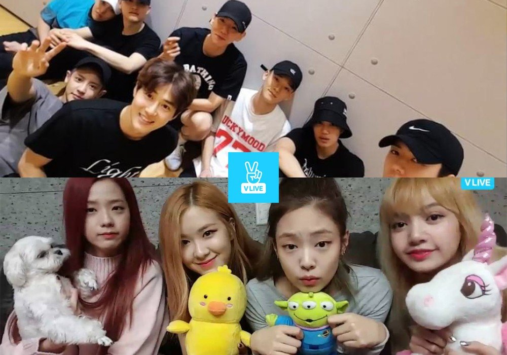 K pop groups with the most followers on v live next stopboris Images