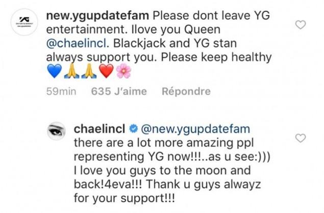 Komentar CL inilah yang membuat para penggemar berspekulasi bahwa ia ingin meninggalkan agensinya tersebut (dok. Instagram)