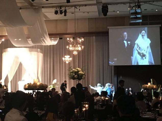 Imagini pentru BTS sing the congratulatory song at their manager's wedding