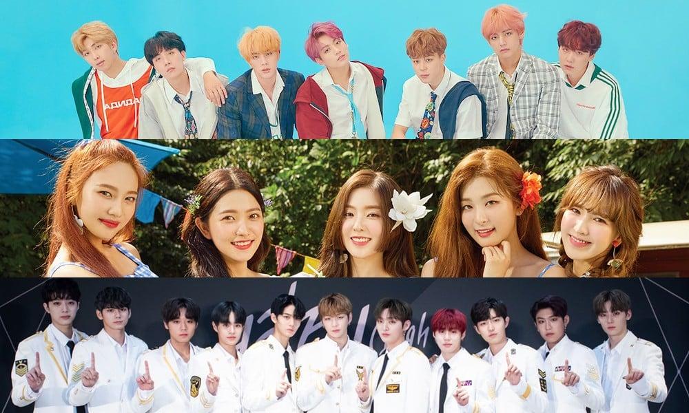 (Bangtan Boys) BTS, Red Velvet, Wanna One