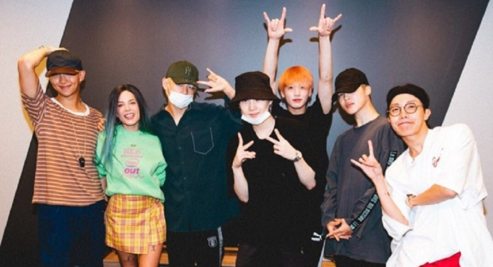 Halsey gives a special shoutout to BTS and praises the 'IDOL