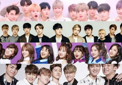 Seventeen,ikon,twice,wanna-one