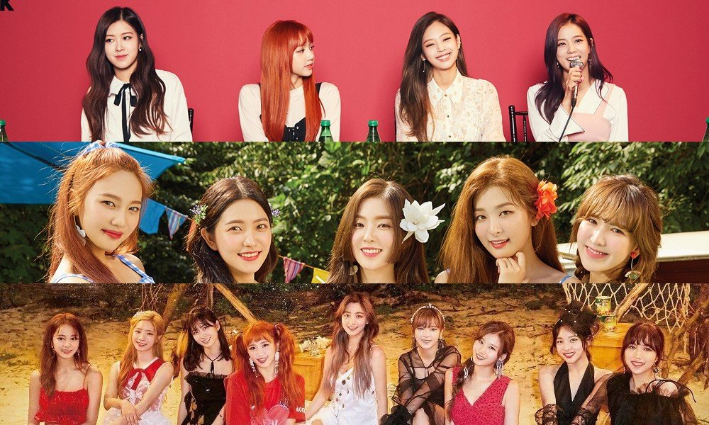 Red Velvet, TWICE, Black Pink