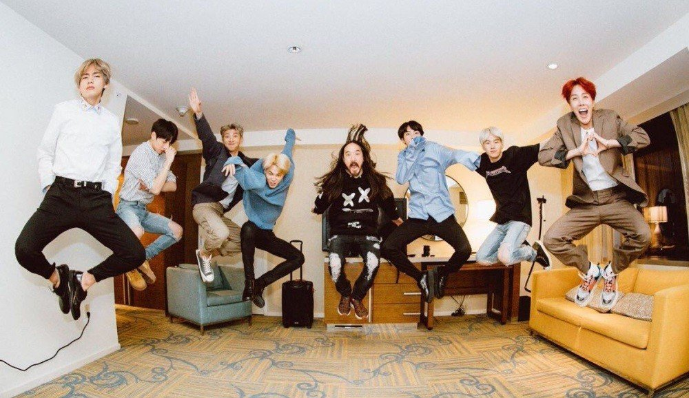 Image result for steve aoki and bts