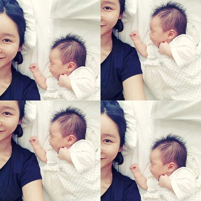 99b9d803b451d ... Lush member Yoo Sarah gave birth to a healthy baby boy on the 10th of  August. The new mother took to Instagram to share photos of her cute little  boy.