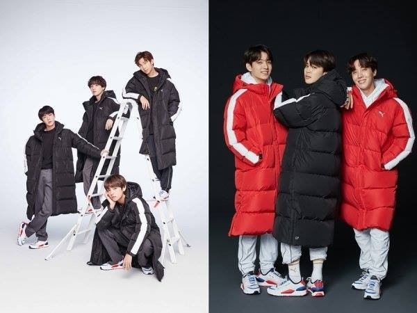 Puma' releases photos of BTS with the new long down jackets ...
