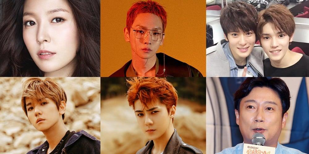 EXO, Sehun, Baekhyun, Key, Boa, Lee Soo Geun, Taeyong, Jaehyun, Jaehyun, NCT