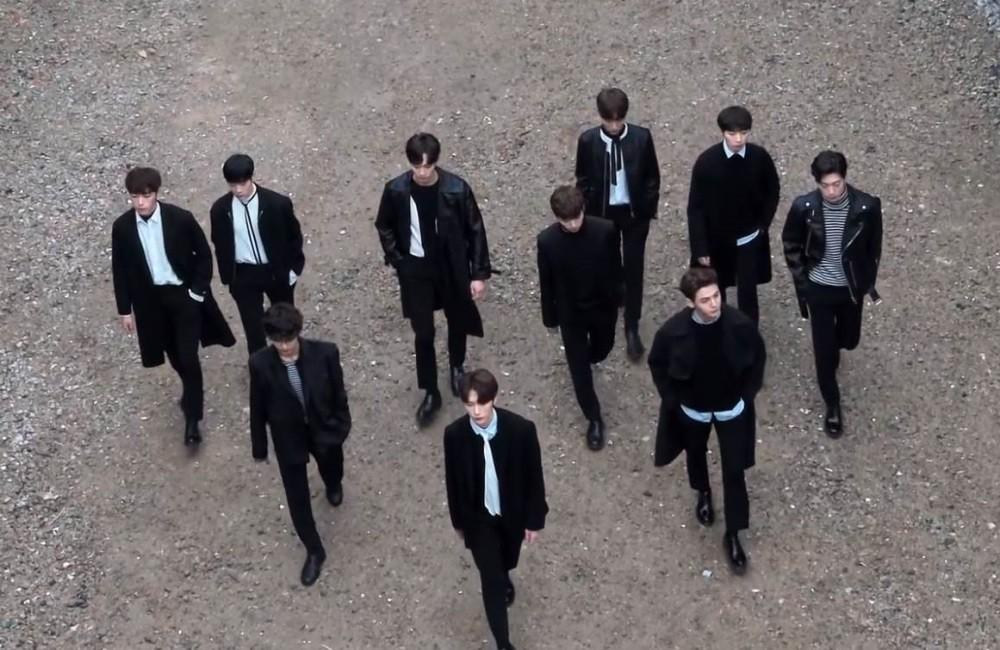 Imagini pentru THE MAN BLK stride in black in MV for debut track 'Free Fall'
