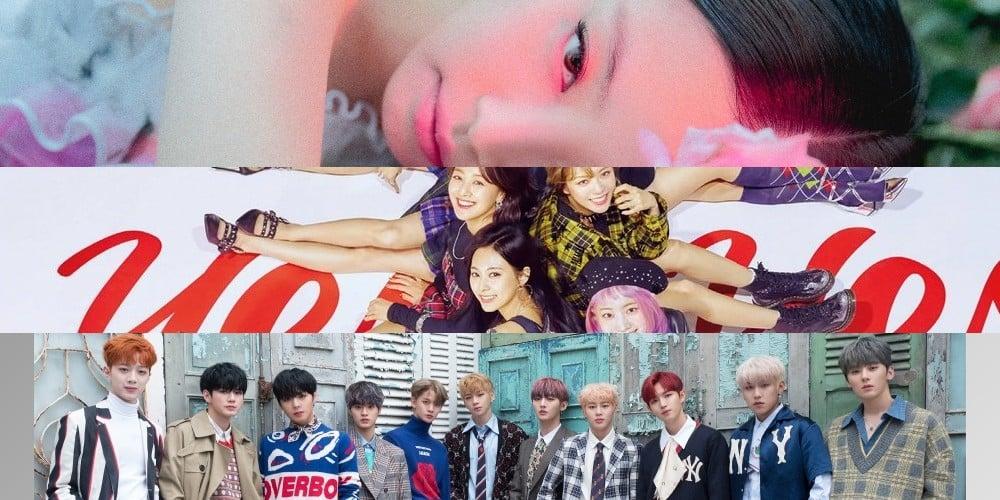 BTOB, EXO, IU, Vibe, K.Will, Yang Dong Geun, TWICE, Jennie, Wanna One, Paul Kim