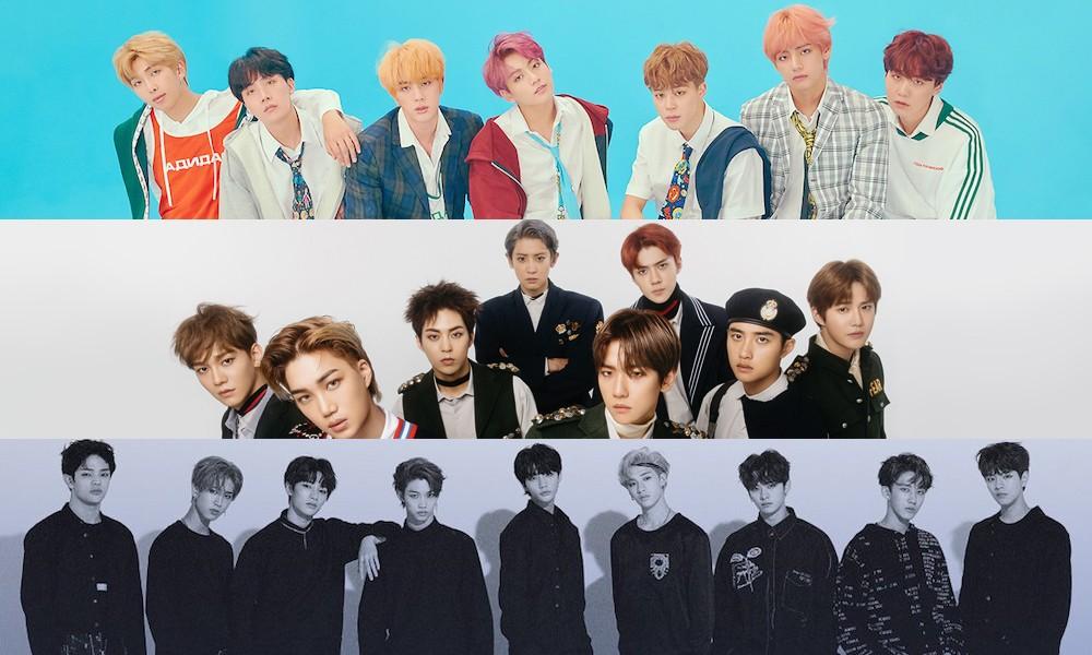 EXO, șaptesprezece, (Bănci Bangtan) BTS, GOT7, Kids Stray