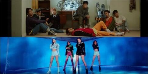 Black Pink, Bolbbalgan4, (Bangtan Boys) BTS, iKON, MAMAMOO, Momoland, Red Velvet, TWICE