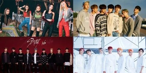 ASTRO, (G)I-DLE, Golden Child, Gugudan, iKON, Momoland, MONSTA X, NCT 127, Red Velvet, Seventeen, Stray Kids, Super Junior, The Boyz
