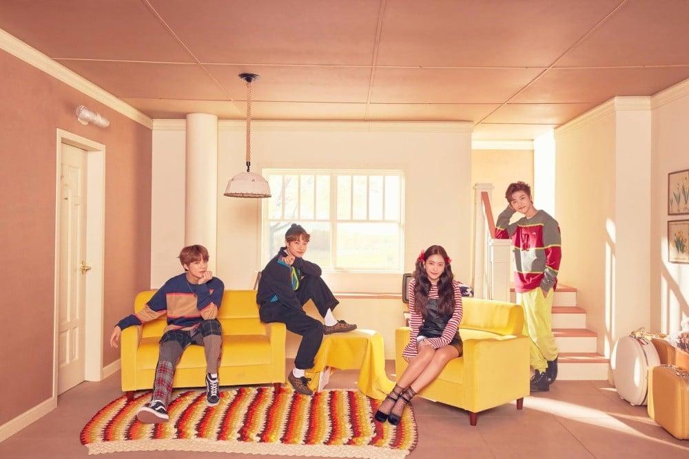 Imagini pentru Yeri (Red Velvet), Renjun, Jeno, Jaemin (NCT) - Hair in the Air