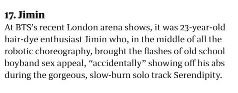 Penjelasan guardian mengenai Jimin BTS