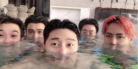 V, Choi Woo Sik, Park Seo Joon, Hyungsik