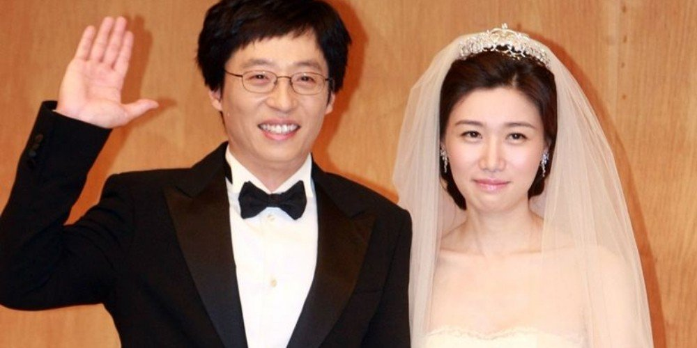 Yoo Jae-suk z Żona Na Gyung-Eun