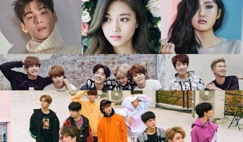 A Pink, Hayoung, AOA, Seolhyun, Cha Eun Woo, Moonbin, Big Bang, Taeyang, G-Dragon, BLACKPINK, Jennie, Jisoo, Zico, BTOB, (Bangtan Boys) BTS, Jungkook, j-hope, Cherry Bullet, EXO, Kai, GFriend (Girlfriend), Yerin, (G)I-DLE, Soojin, Shuhua, Soyeon, Girls