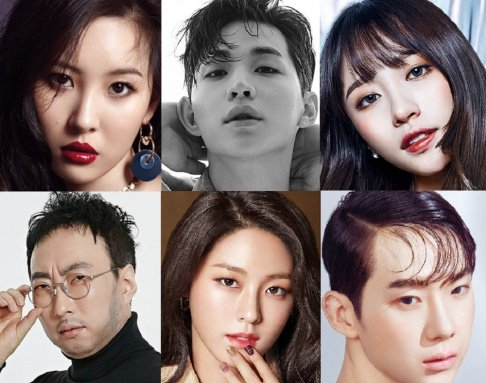 Seolhyun, Jung Chae Yeon, Hani, Yura, Yuri, Sunny, Hong Jin Young, Jung Joon Young, Jung Yoo Mi, Kisum, Shinji, Lee Se Young, (Jessica H.o.) Jessi, Moon Chae Won, Park Bo Ram, Park Myung Soo, Jisook, Sam Hammington, Sunmi, Henry, Jiyeon, Yoo In Young, Jo Kwon