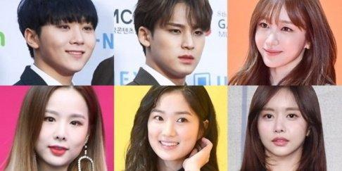 Hani, Solji, Seungkwan, Mingyu