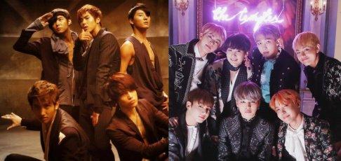 Big Bang, (Bangtan Boys) BTS, EXO, Girls