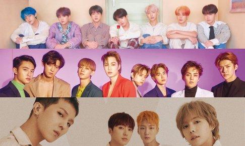 BTS, EXO, SF9, WINNER