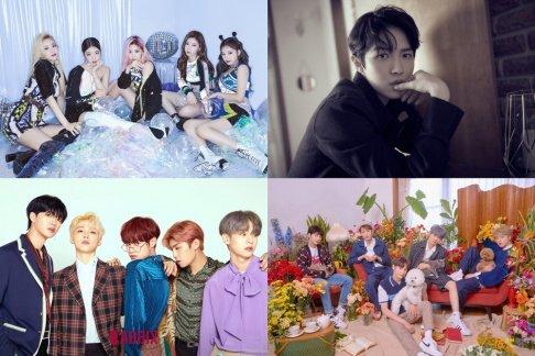 AB6IX, BVNDIT, ITZY, Nature, TXT, VERIVERY, Kim Jae Hwan