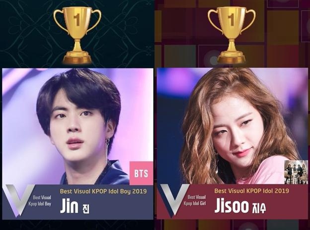 Bts S Jin And Blackpink S Jisoo Voted 1 On Best Visual Kpop Idol 2019 Allkpop