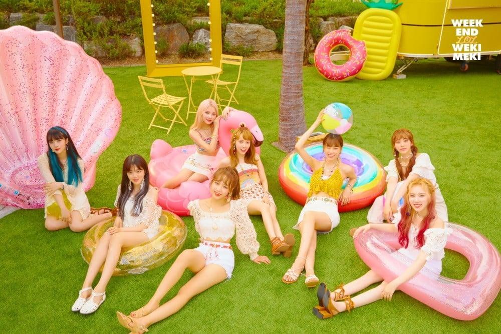 Weki Meki have fun in the sun in 'WEEK END LOL' teaser images | allkpop