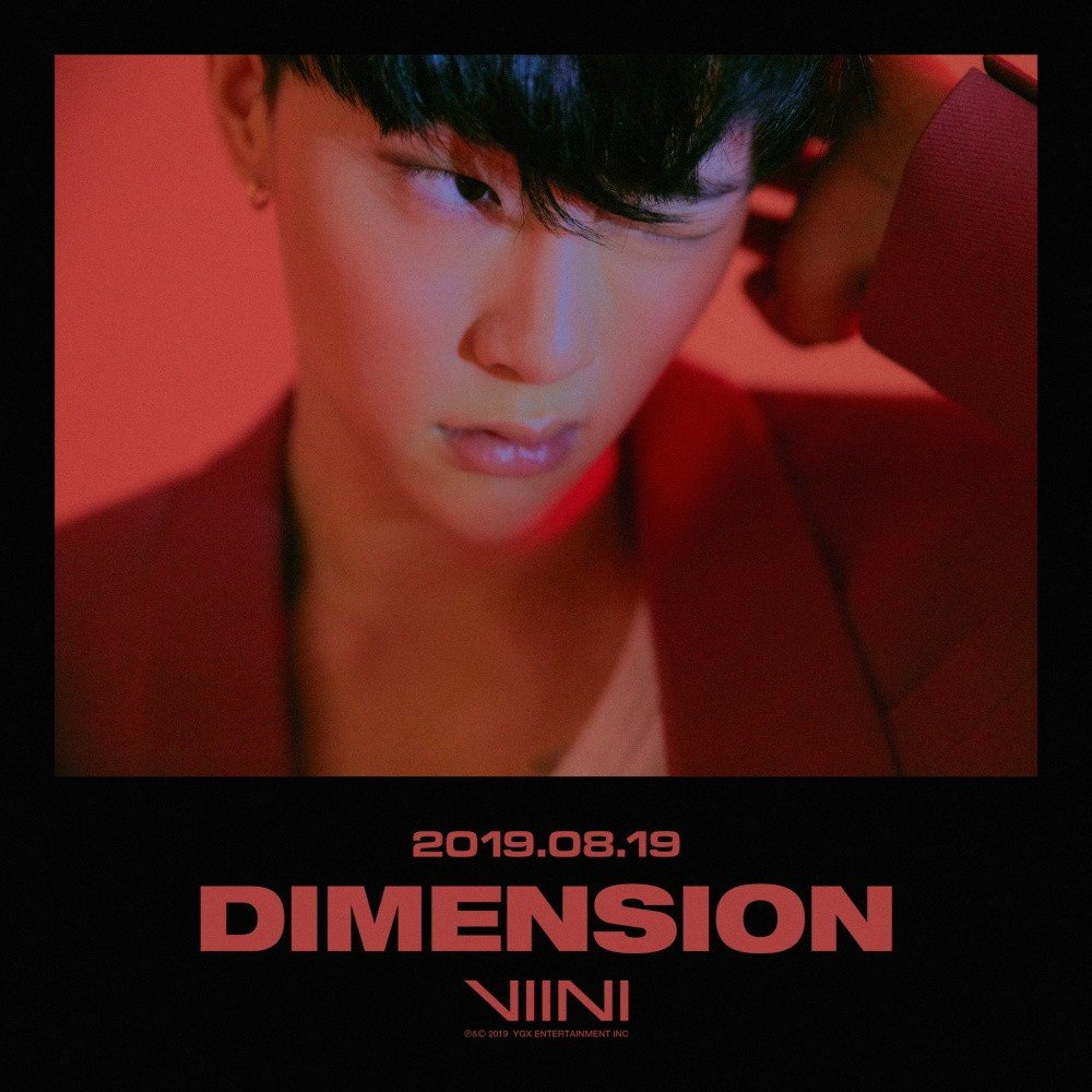 VIINI (Kwon Hyun Bin) reveal 'Dimension' teaser images in red | allkpop