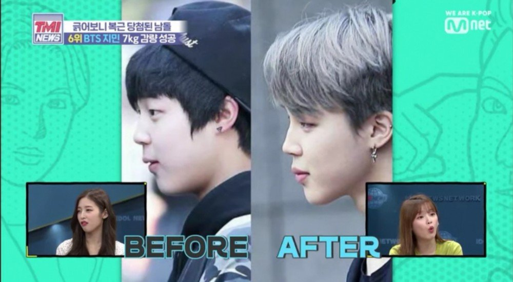 Mnet TMI News reveals Jimin's dramatic weight loss since 2013 | allkpop