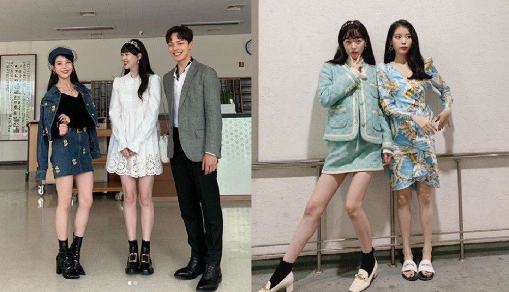 Sulli shares a friendly moment with IU & Yeo Jin Goo after her ...