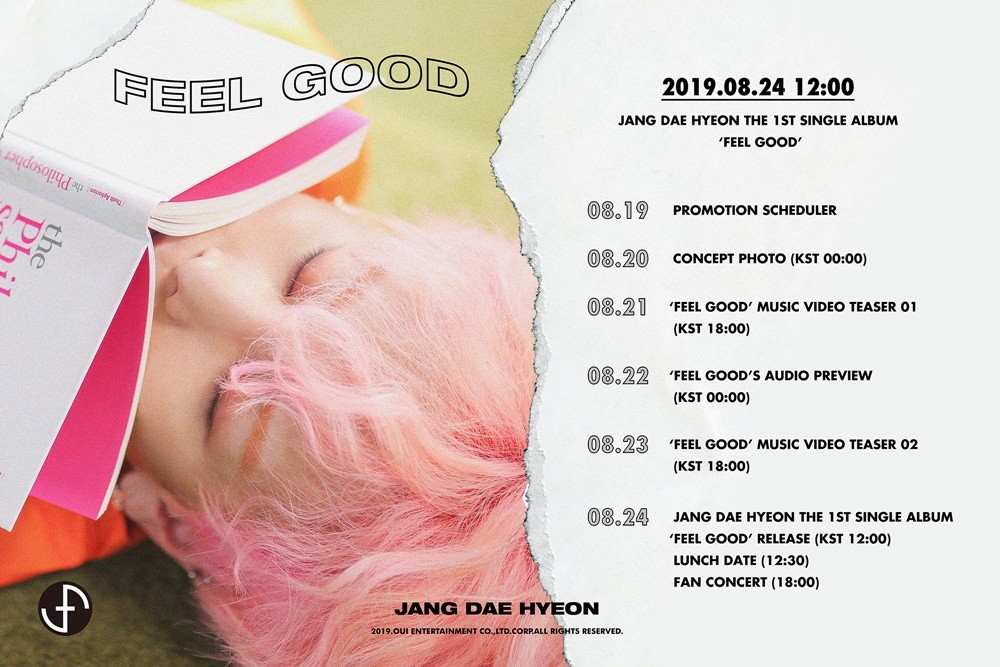 Rainz' Jang Dae Hyeon to make his solo debut with his first single album 'FEEL GOOD'   allkpop