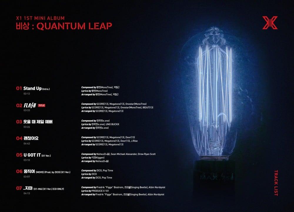 X1 drops tracklist for their 1st mini-album 'Emergency: Quantum Leap' | allkpop