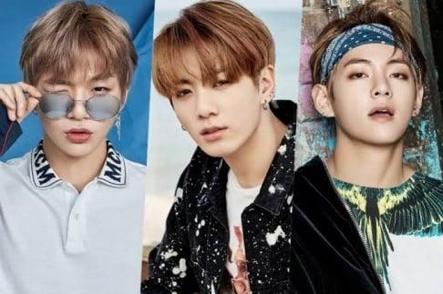 V, Jungkook, RM (Rap Monster), Kang Daniel
