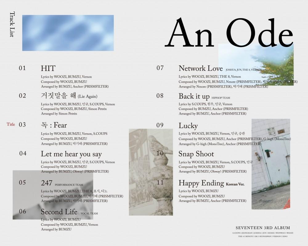 Image result for seventeen an ode album