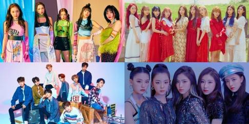 Cosmic Girls, ITZY, Chaeryeong, Yeji, Lia, Ryujin, Yuna, Red Velvet, Joy, Yeri, Stray Kids, I.N., Bang Chan, Woojin, Changbin, Seungmin