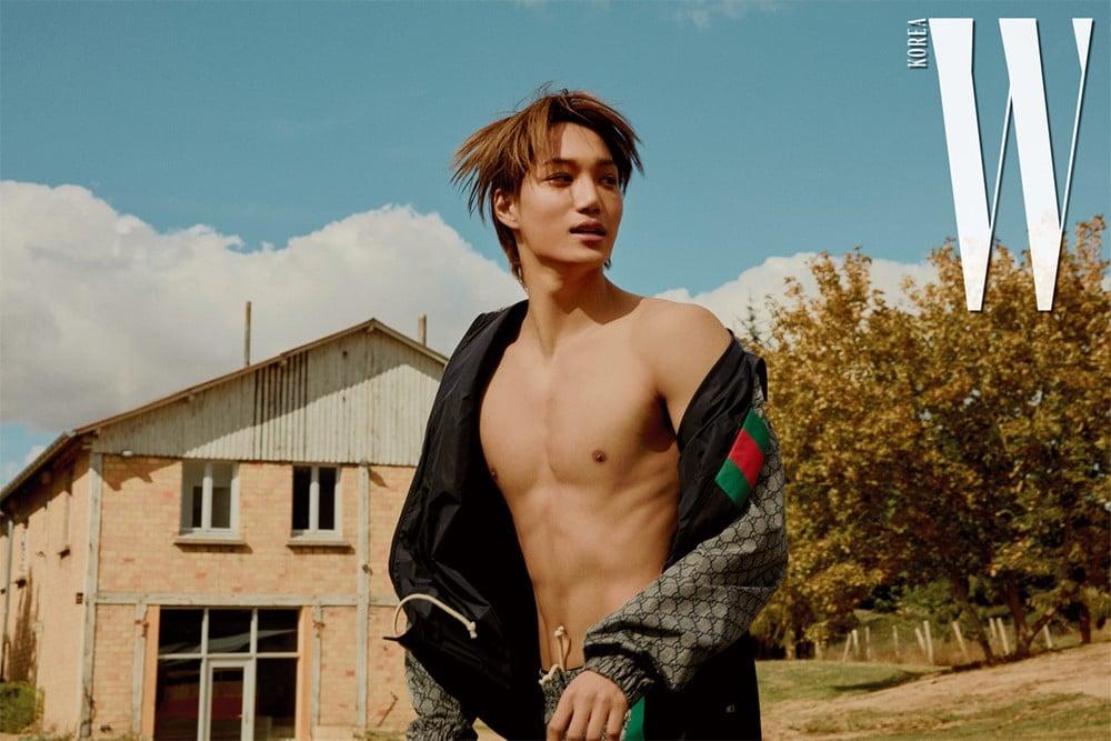 Exo S Kai Turns Into An Autumn Boy In Paris For W Korea Allkpop
