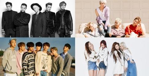 Akdong Musician, Big Bang, BLACKPINK, iKON, Sechskies, WINNER, Yang Hyun Suk