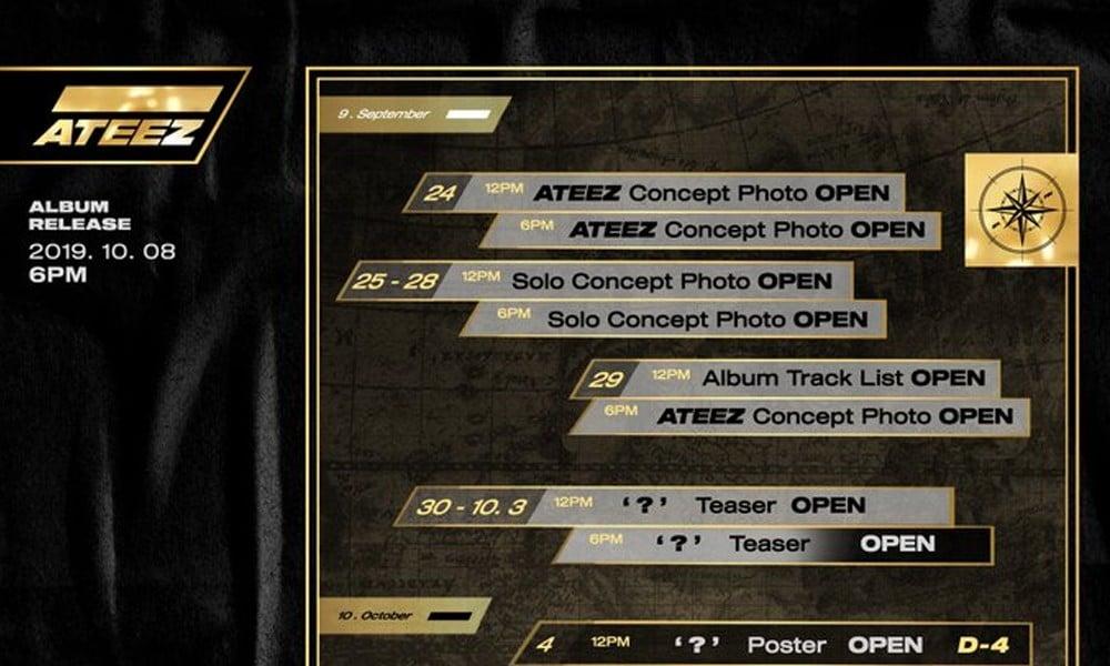 ATEEZ unveils 'promotion map' revealing teaser schedule for comeback album | allkpop