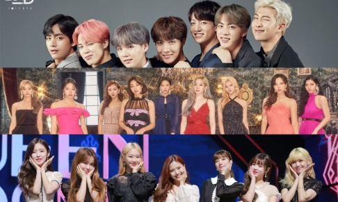 BTS, Oh My Girl, TWICE