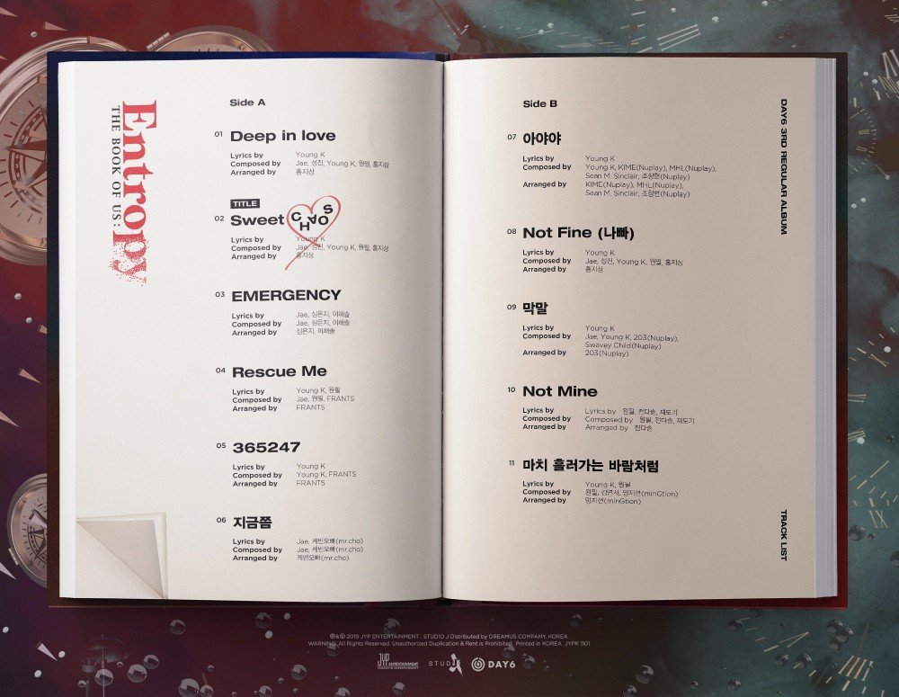 DAY6 reveals tracklist for 'The Book Of Us: Entropy'   allkpop