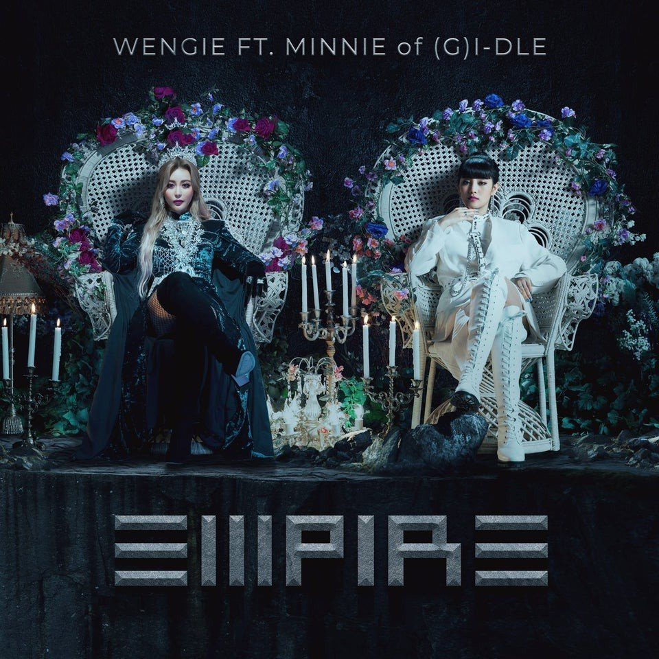 Wengie and (G)IDLE's Minnie are fierce queens in latest album cover for 'Empire' | allkpop